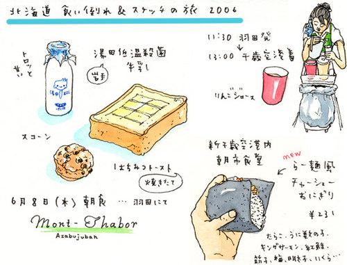 北海道食い倒れ&スケッチの旅_2006